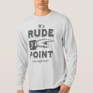 "Vintage ""Rude to Point"" Victorian Illustration Shirt"