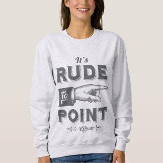 "Vintage ""Rude to Point"" Victorian Illustration Sweatshirt"