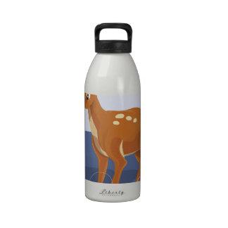 Vintage Rudolph el reno sospechado rojo Botellas De Agua Reutilizables