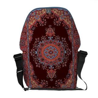 Vintage rug pattern courier bag