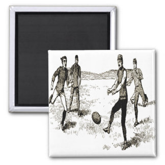 VINTAGE RUGBY 2 INCH SQUARE MAGNET