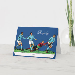 Vintage rugby cards greeting photo cards zazzle vintage rugby die cut greeting card m4hsunfo