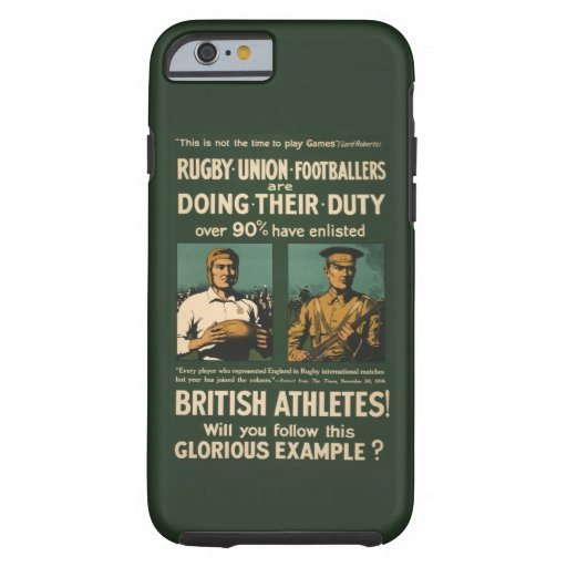 Vintage : Rugby players call for duty iPhone 6 Case