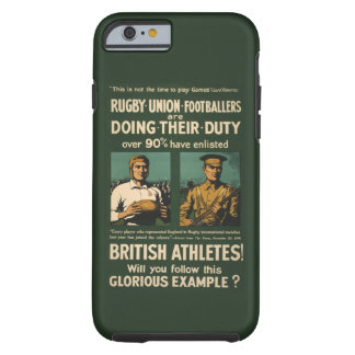 Vintage Rugby players call for duty iPhone 6 Case