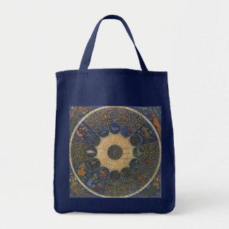 Vintage Rulers Horoscope, Antique Zodiac Tote Bag