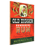 Vintage Rum Ad Gallery Wrapped Canvas