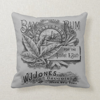 Vintage Rum Label Throw Pillow