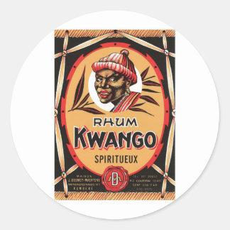 Vintage Rum Liquor Product Label Classic Round Sticker