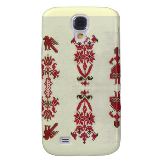 Vintage Rumanian cross stitch embroidery Samsung Galaxy S4 Cases