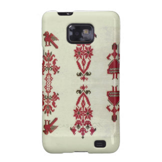 Vintage Rumanian cross stitch embroidery Samsung Galaxy SII Covers