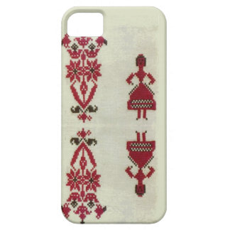Vintage Rumanian cross stitch embroidery iPhone 5 Covers
