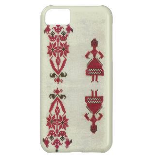 Vintage Rumanian cross stitch embroidery iPhone 5C Case