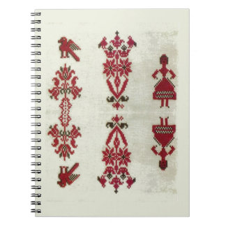 Vintage Rumanian cross stitch embroidery Spiral Notebook