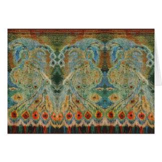 Vintage Rumanian Fabric design Card