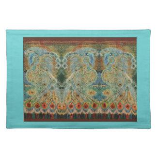 Vintage Rumanian Fabric design Place Mats