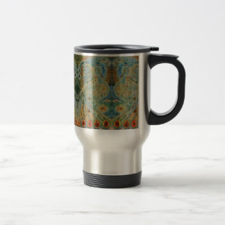 Vintage Rumanian Fabric design Travel Mug