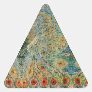 Vintage Rumanian Fabric design Triangle Sticker