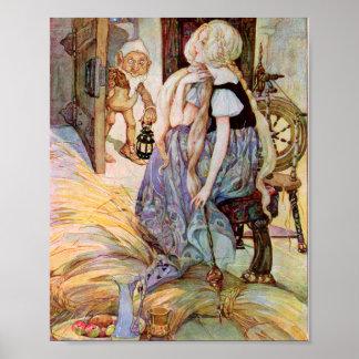 Vintage Rumpelstiltskin Illustration Poster