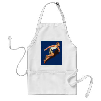 Vintage Running Track and Field Runner Adult Apron