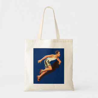 Vintage Running Track and Field Runner Tote Bag