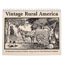 Vintage Rural America Calendar