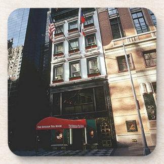 Vintage ruso New York City del sitio del té de los Posavasos De Bebida
