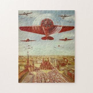 Vintage Russian Aviation art puzzle