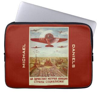 Vintage Russian Aviation custom laptop sleeves