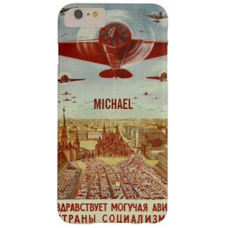 Vintage Russian Aviation Propaganda custom cases Barely There iPhone 6 Plus Case