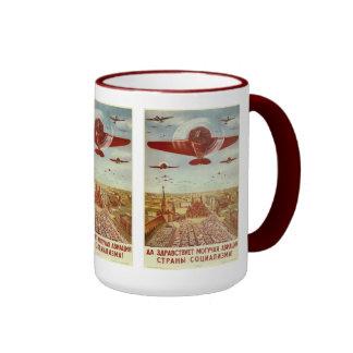 Vintage Russian Aviation Propaganda mugs