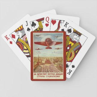 Vintage Russian Aviation Propaganda playing cards