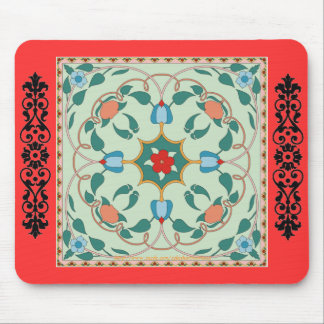 """Vintage Russian design ~ Россия ~ Мое сердце земл Mouse Pad"