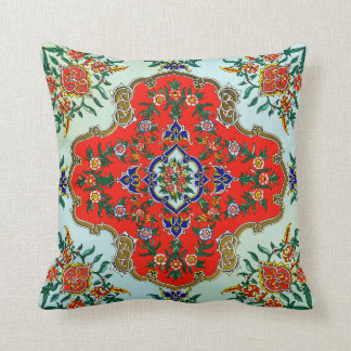 Vintage Russian Design Throw Pillow