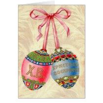 Vintage Russian Easter Egg Card