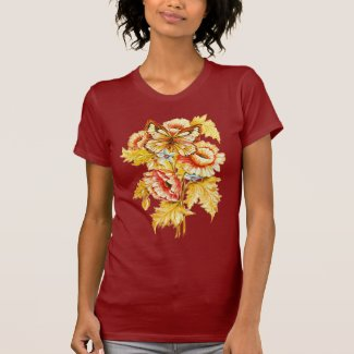 Vintage Russian Floral T Shirts