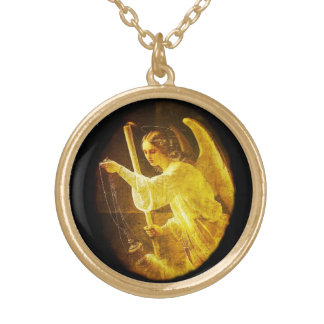 Vintage Russian Guardian Angel Necklace