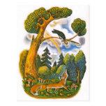 Vintage Russian illustrations, Aesop's fables 10 Postcard