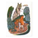 Vintage Russian illustrations, Aesop's fables 11 Postcard