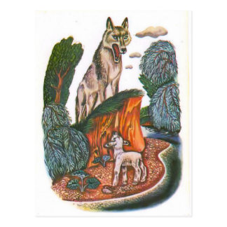 Vintage Russian illustrations, Aesop's fables 11 Postcard