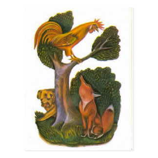 Vintage Russian illustrations, Aesop's fables 12 Post Card