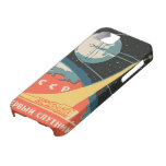Vintage russian matchbox ads (CCCP rocket launch) iPhone 5 Case