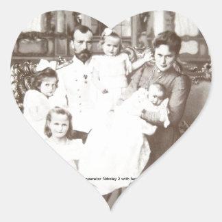 "Vintage Russian Photo ""Imperator Nikolay 2"" Heart Sticker"
