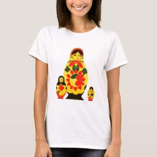 Vintage Russian Russia Chic Matryoshka Doll T-Shirt
