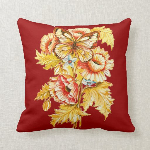 Vintage Russian Throw Pillow