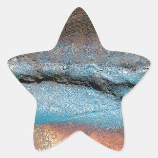 Vintage Rust on Metal Star Sticker