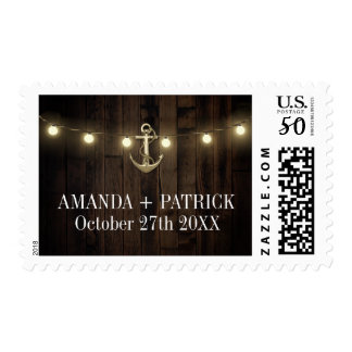 Vintage Rustic Anchor Nautical Wedding Stamps
