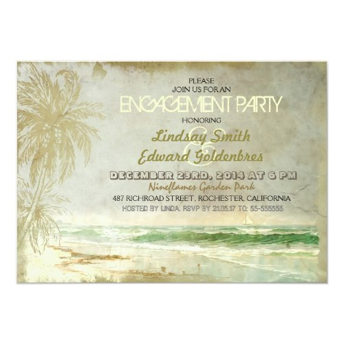 Best 50 Rustic Beach Engagement Invitations Stunning Collection – Vintage Engagement Party Invitations