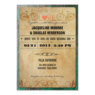 Bicycle Wedding Invitations Announcements Zazzle