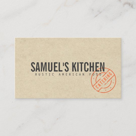 Vintage rustic bold stamped logo kraft look business card zazzle vintage rustic bold stamped logo kraft look business card reheart Gallery