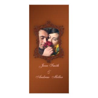 Vintage rustic brown photo Wedding Programs